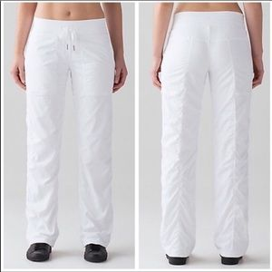 Lululemon Bright Wht Lined Dance Studio Pant F/L 6